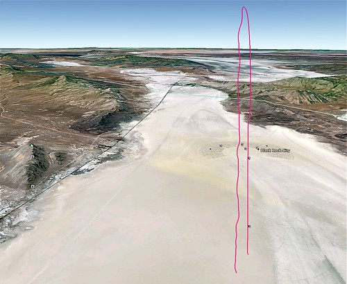 GPS trail over Black Rock Desert | by jurvetson