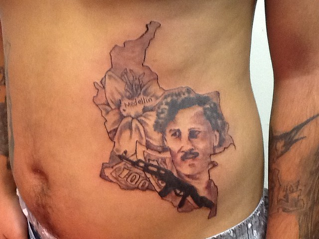 Colombia Pablo Escobar Portrait Tattoo  Flickr Photo