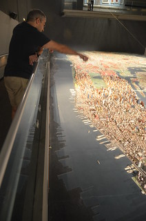 Queens Museum of Art | The Panorama of the City of New York | element of the stitched view from the west near the lower tip of Manhattan | by Chris Devers