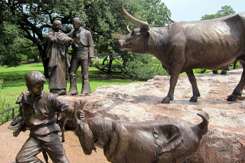 Austin Texas State Capitol Tejano Monument The Tejano