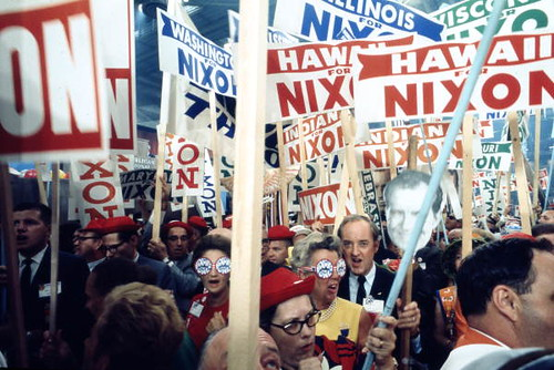 Supporters of Richard Nixon at the 1968 Republican National Convention: Miami Beach, Florida | by State Library and Archives of Florida