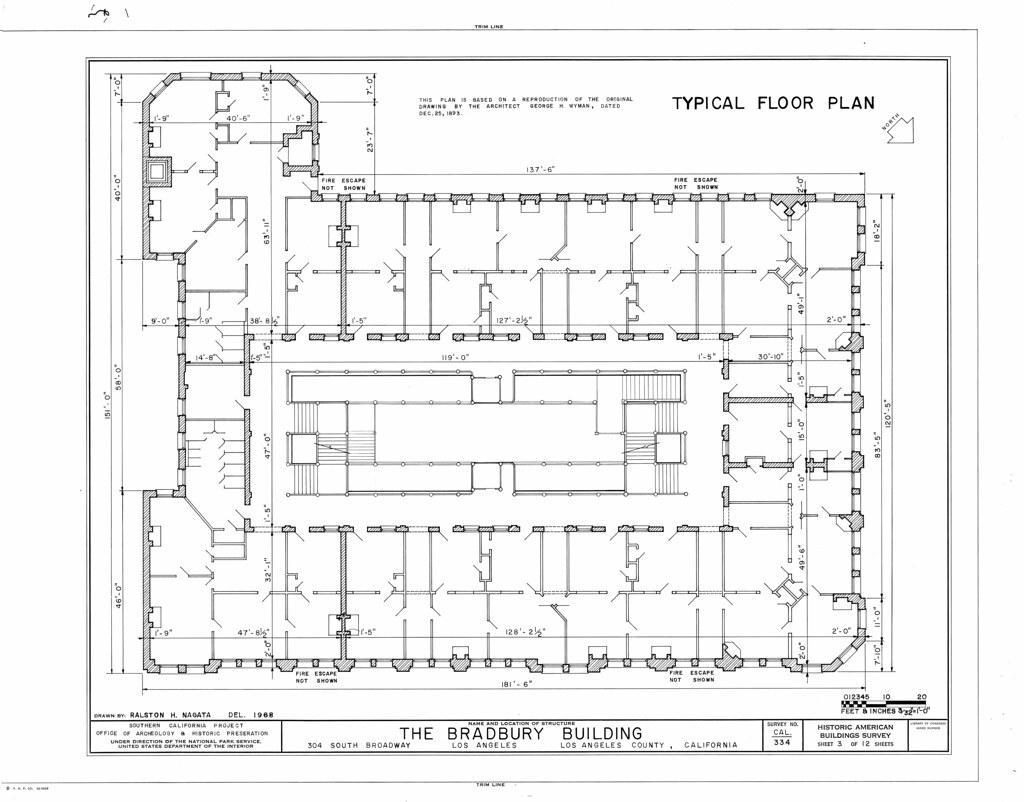 Wardson Construction Floor Plans: Bradbury Building: Typical Floor Plan