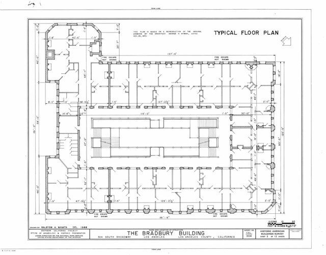 Bradbury building typical floor plan flickr photo for Typical house floor plan