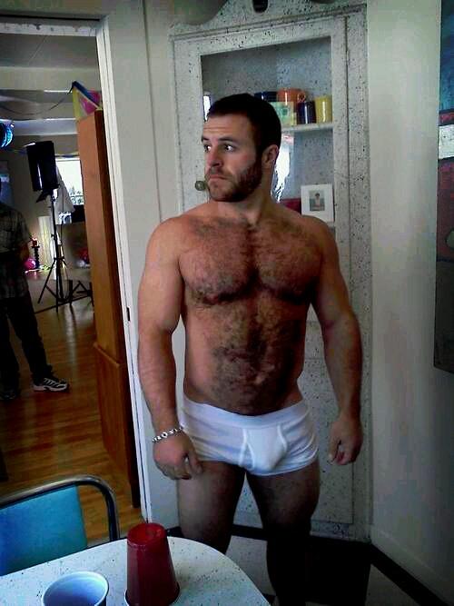white man boner nude