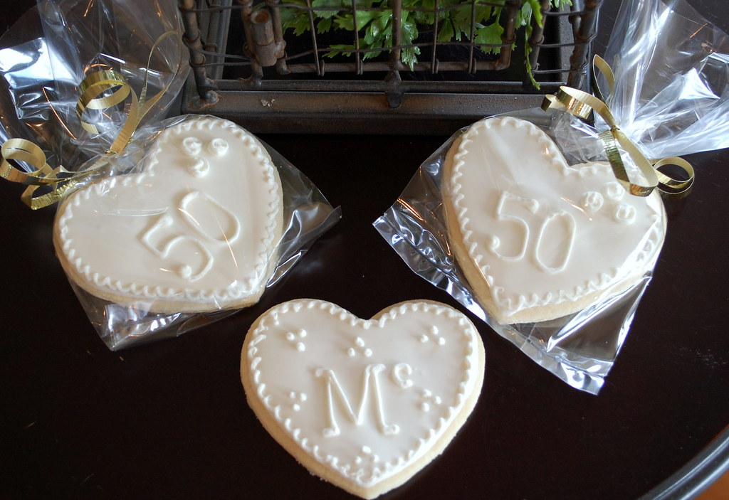 50th Wedding Anniversary Cookie Favors Cookie Favors For