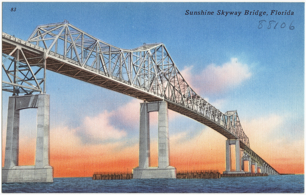 Sunshine skyway bridge florida file name 06 10 007765 for Tampa fishing piers