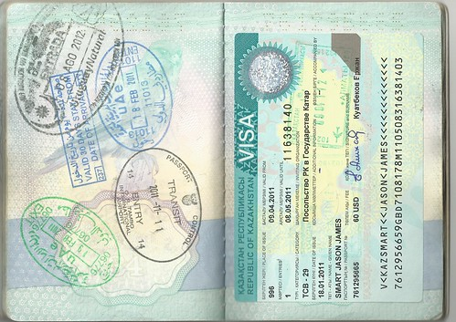 Passport Page With Stamps Uae Visa Entry Exit Stamp Uruga Flickr