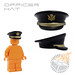 Officer Hat - Black w/ US Army