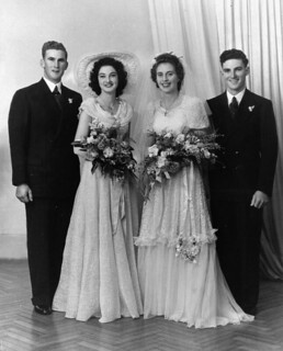 Norman Heineman with a wedding party, 1940-1950 | by State Library of Queensland, Australia