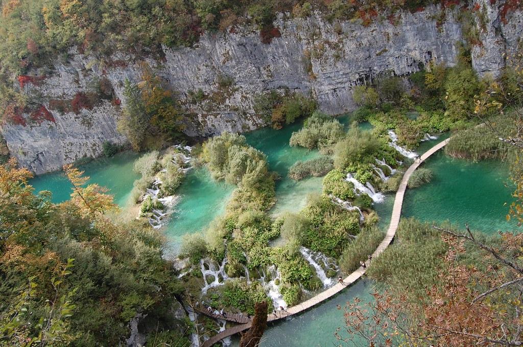 Fotos desde el camino al a estación en Plitvice