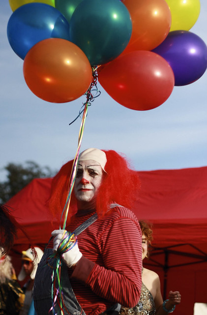 Playgroup Festival 2012 Scary Clown With Balloons