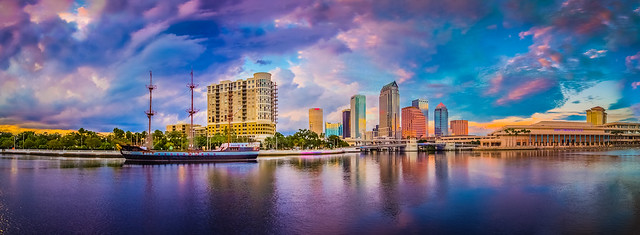 Tampa Bay Florida Skyline Hdr Panorama Flickr Photo