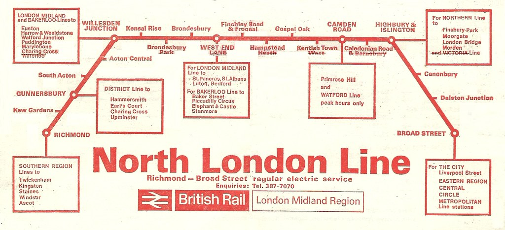 North London Line British Rail LMR Route Map Flickr - Northern line map london