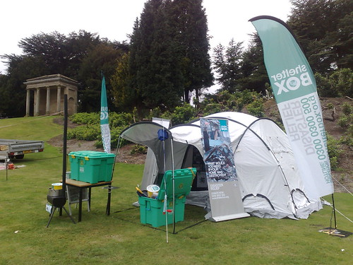 Shelterbox at the Rowan Earth Festival Wentworth Castle Barnsley Yorkshire | by woodytyke