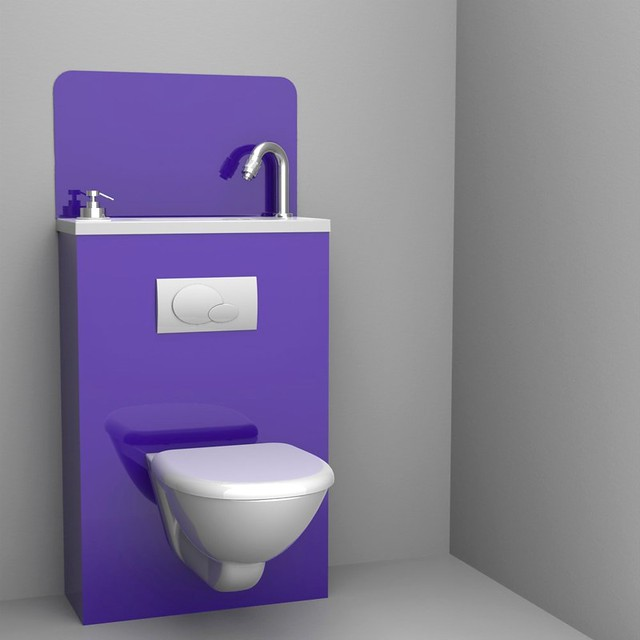 Wici bati wc suspendu violet wc suspendu couleur flickr for Photo wc suspendu