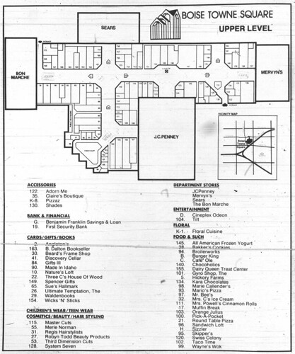 Boise Towne Square Mall Map | Area Code Map