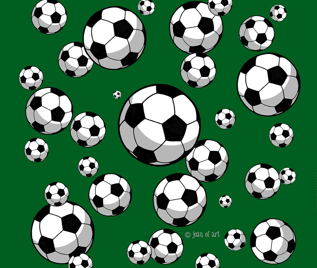 Soccer Ball Pattern Green Background Products