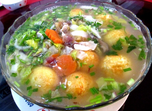 Golden Happiness egg & meatball chicken soup
