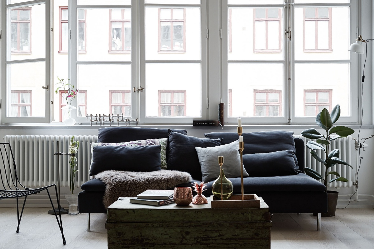 Green Home With Industrial Touch