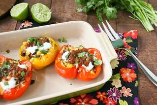 Southwestern Stuffed Peppers | by daintychef