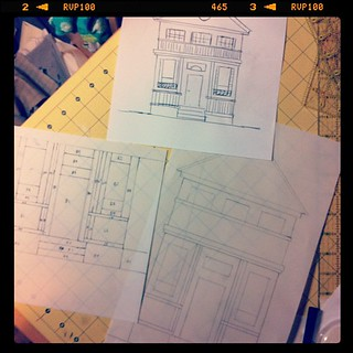 Early morning pattern drafting | by Spotted Stone Studio {Krista}