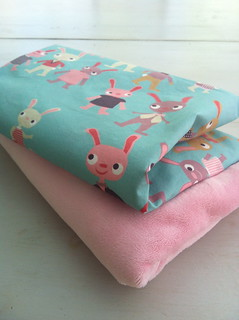 "Heidi Kenney's ""Bunny Bunch"" and pink Minky 