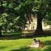 Prague : Kampa island park : Lovers' relaxation