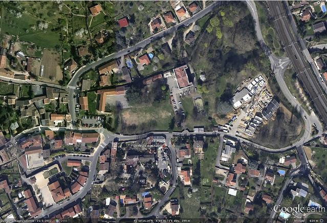 Vue satellite de la Demeure du Chaos par Google Earth 2012