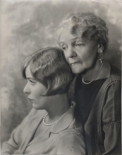 Blanche Sweet and grandmother Mrs. Cora Blanche Ogden Alexander, original portrait photo, c.1927. | by yarblocko