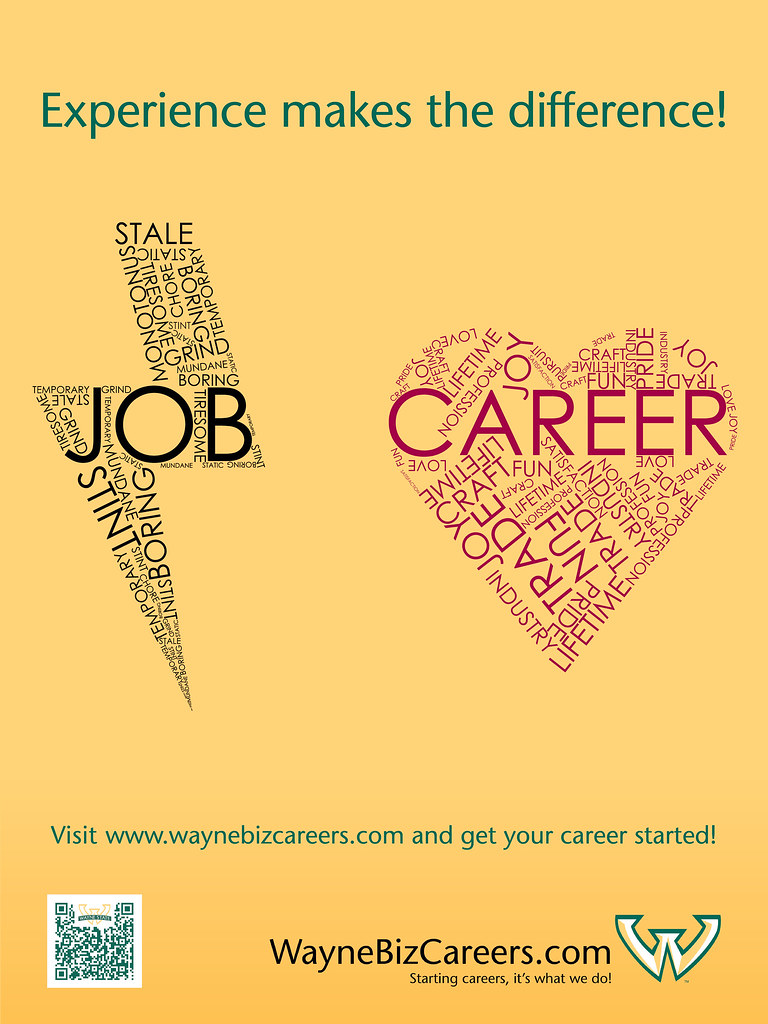 waynebizcareers job vs career art by remus r ooh po flickr career by d rich waynebizcareers job vs career by d rich