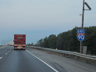 Eastbound I-90 Near Ashtabula, Ohio | Interstate 90 (I-90 ...