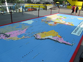 Southbank Centre World Map 2012 - made from Lego | by Ali_Haikugirl