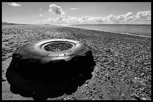 Tyre in the beach at Spurn Point | by Miles From Nowhere Photography