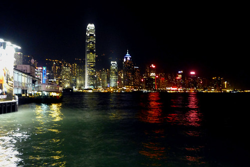 Victoria Harbour Hong Kong at night | by dcmaster