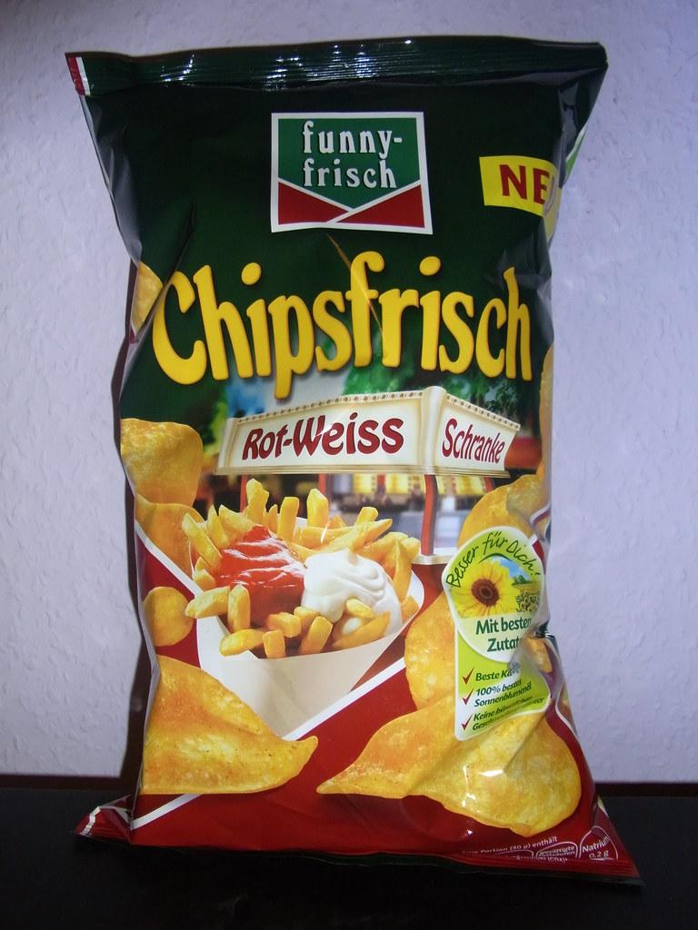 Funny Frisch Chipsfrisch Rot Weiss Schranke | Limited editio… | Flickr