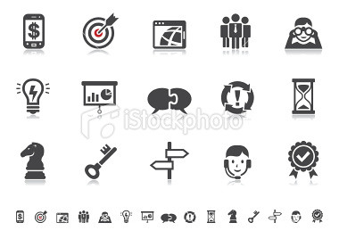Business management pictograms pictoria series www istoc