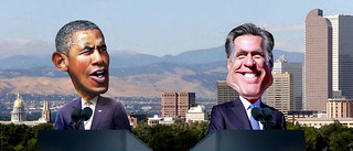 Barack Obama v Mitt Romney Denver Debate | by DonkeyHotey