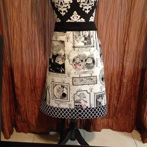 """Ghastlie"" apron ready for swap partner! 