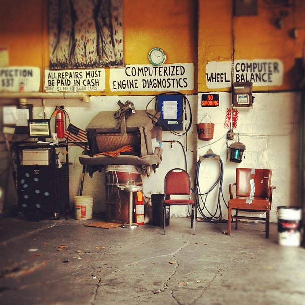 Old Auto Repair Shop Old school car repair shop inOld Auto Repair Shop