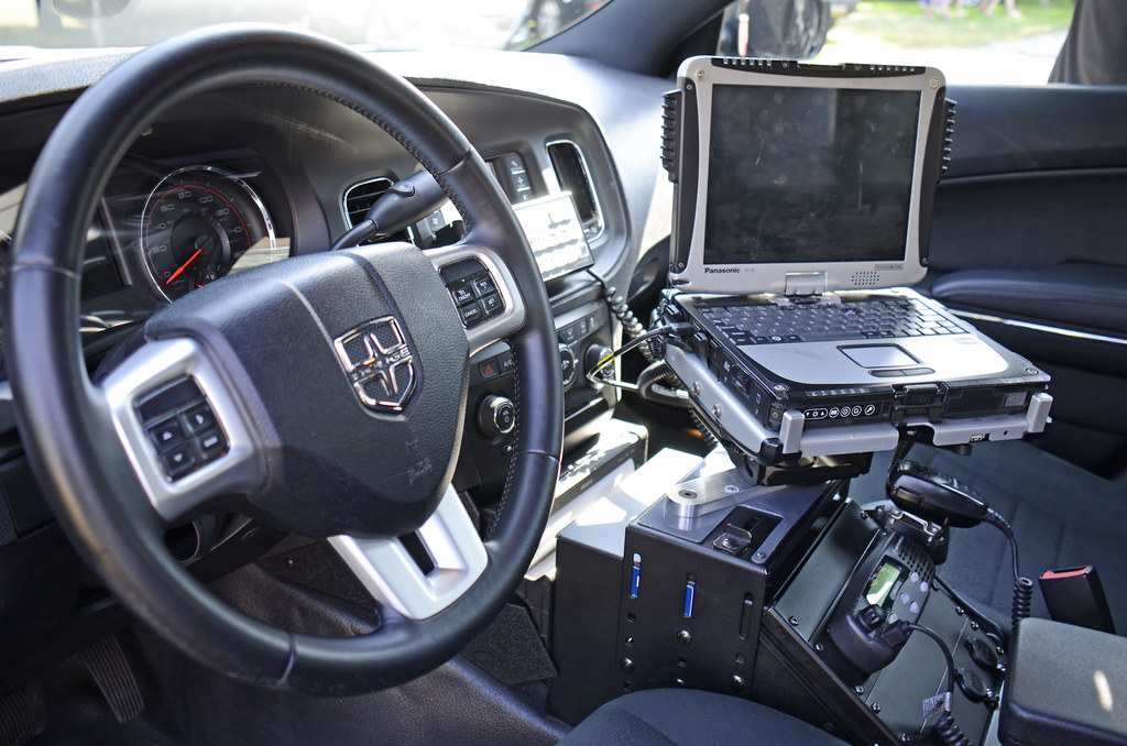 equipment inside town of harrison ny police department car flickr. Black Bedroom Furniture Sets. Home Design Ideas