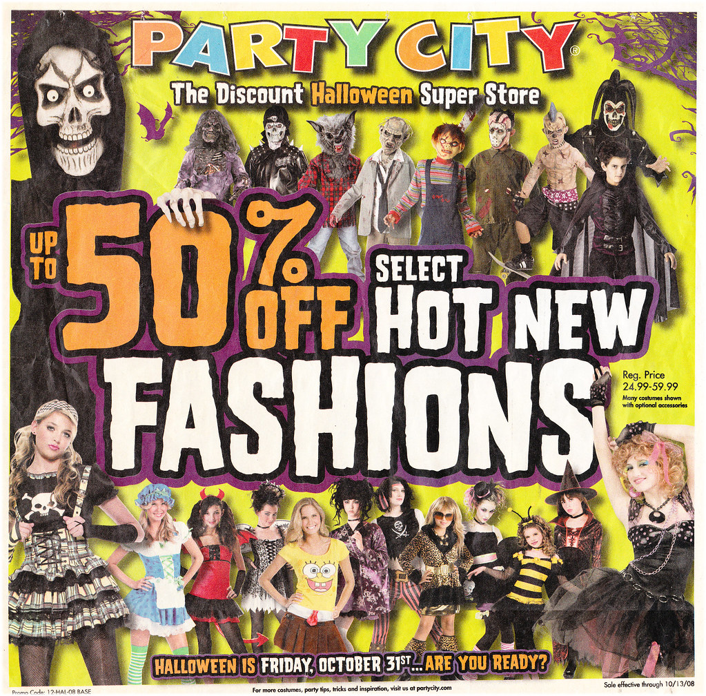 party city halloween flyer 2008 by paxton holley