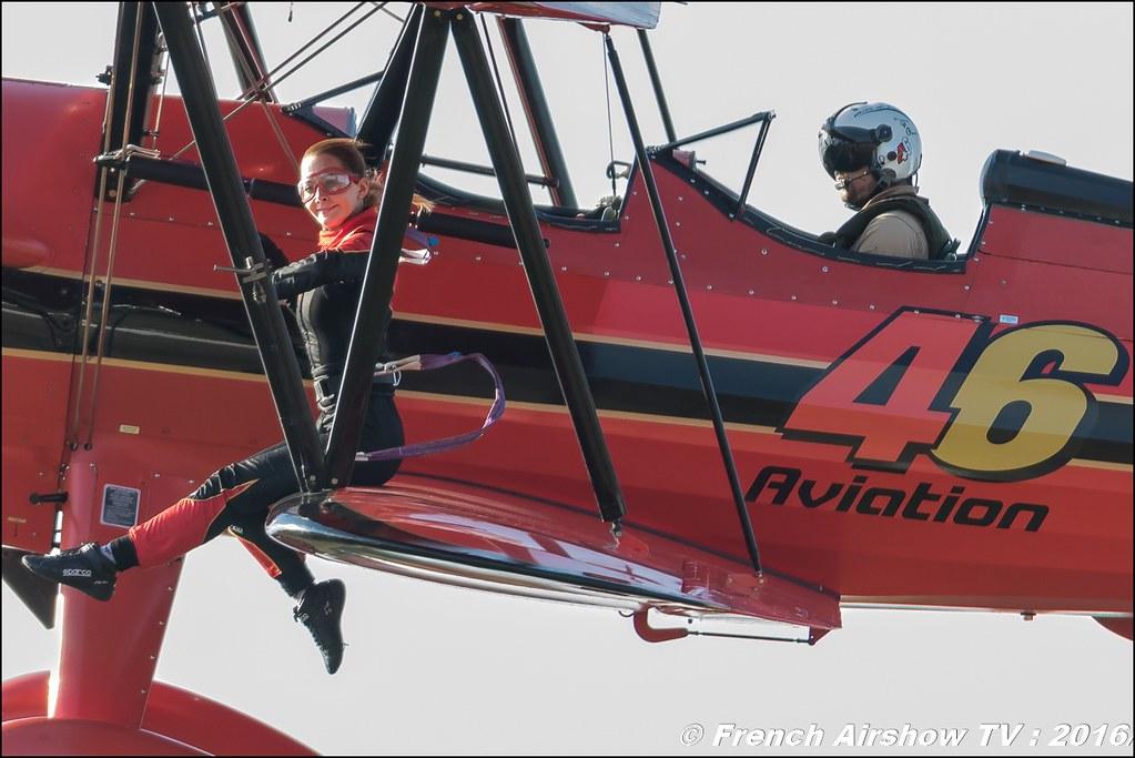 46 Aviation Wingwalker Danielle , 46 Aviation , N450D , Stearman, Kaydet , Meeting Aerien Roanne 2016, Meeting Aerien Roanne , ICAR Manifestations , meeting aerien roanne 2016 , Meeting Aerien 2016 , Canon Reflex , EOS System