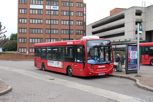 Metroline DE1010 on Route 117, Staines