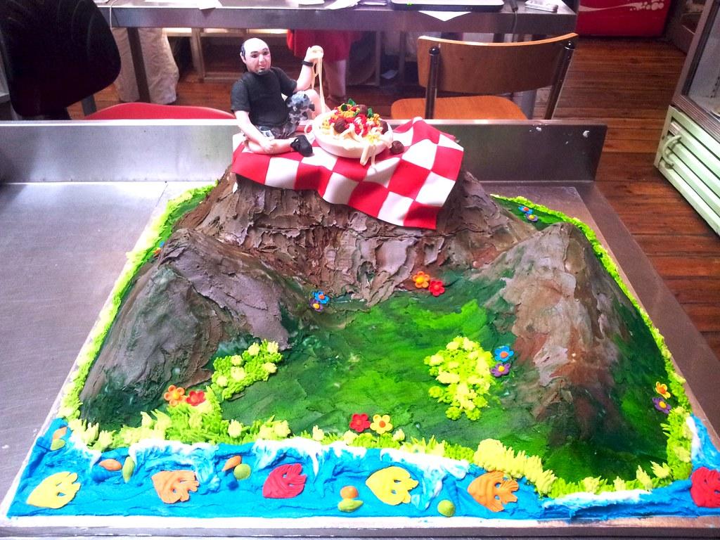 Sitting On Birthday Cake