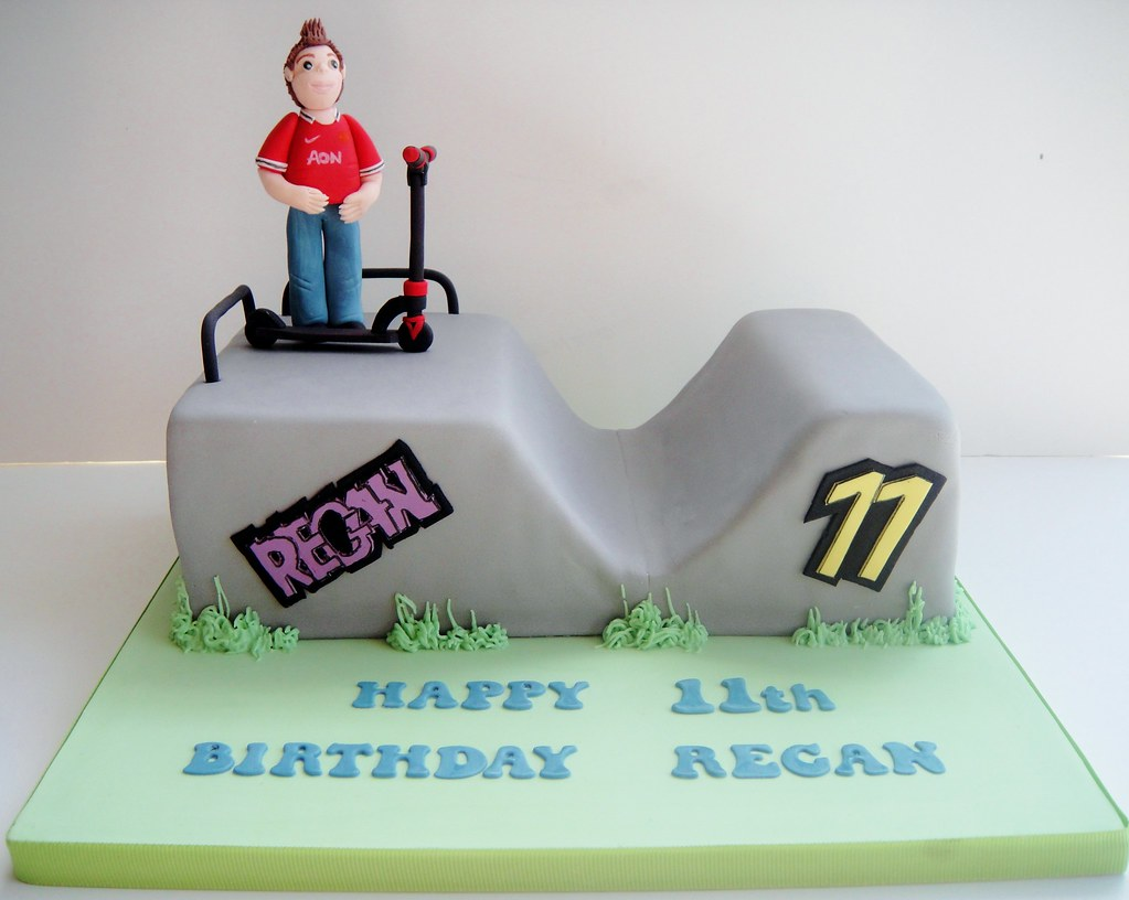 Birthday Cake On A Skateboard
