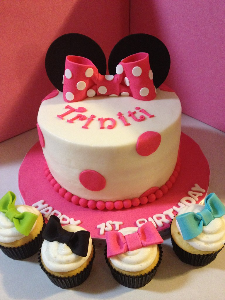 Minnie Mouse BowTique 1st Birthday Cake Buttercream icing Flickr
