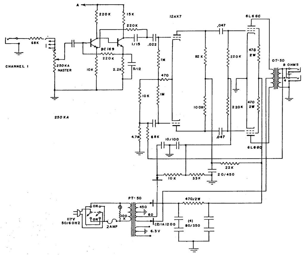 Univox Amp Schematic Wiring Diagram Libraries Diagrams