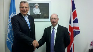 UK Minister Alistair Burt meeting with UNODC Executive Director Yury Fedotov at the UN General Assembly | by UKUnitedNations