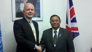 UK Foreign Secretary William Hague meeting with Mr Wunna Maung Lwin, Foreign Minister of Myanmar | by UKUnitedNations