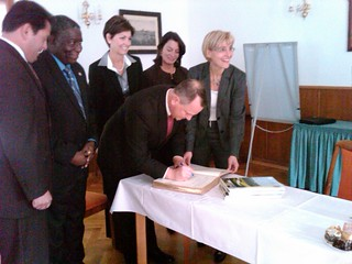 Signing the Gold Book in Lommatzsch | by MassLtGov